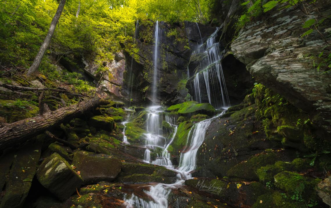 English Falls Blue Ridge Parkway North Carolina