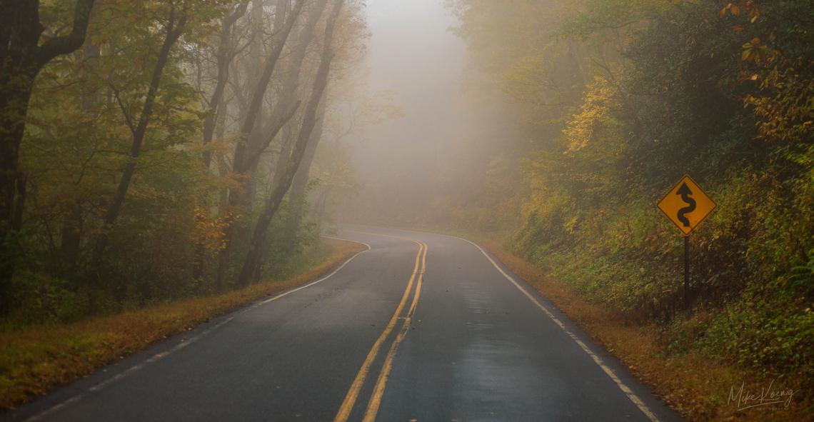 Blue Ridge Mountain Roads in Autumn