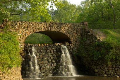 Waterfall at Reynolda Gardens