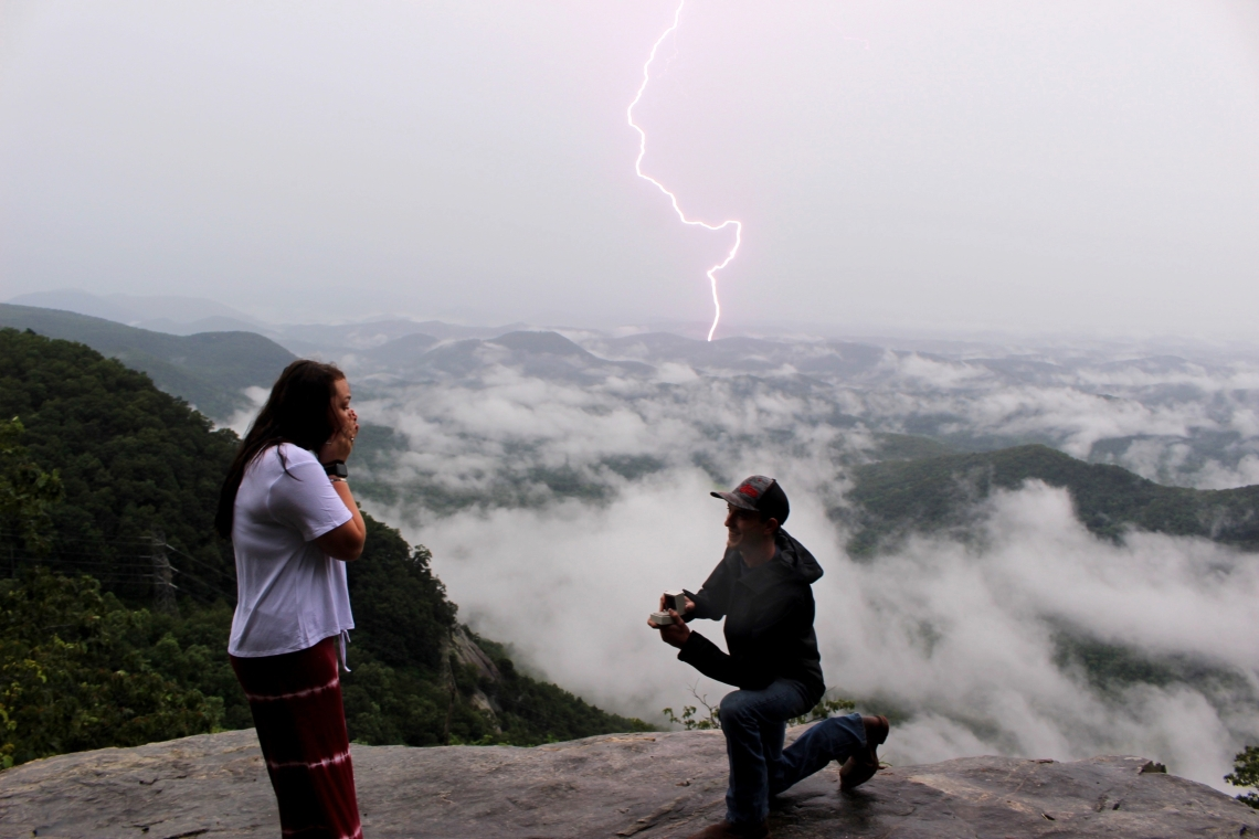 Lightning Strikes Marriage Proposal