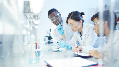 Researchers in Lab Coat