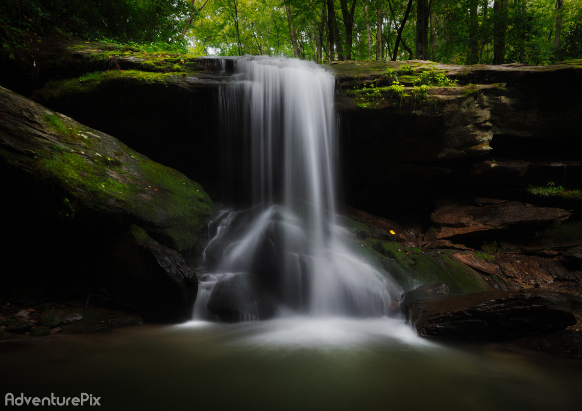 Otter Falls in Seven Devils North Carolina