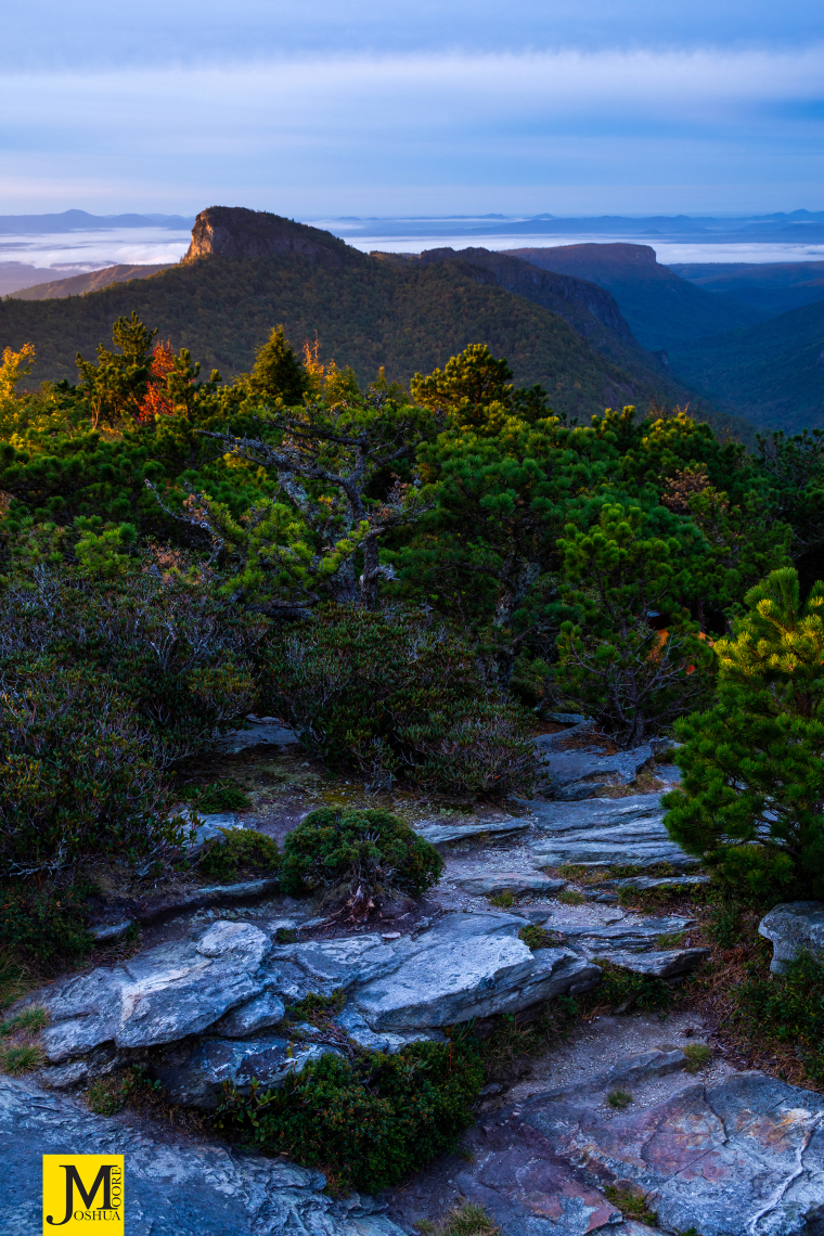 Sunrise from Hawksbill Mountain