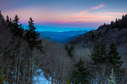 Blue Hour ALong Newfound Gap