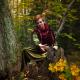 Magic gusli of the autumn forest