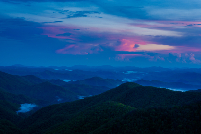 Blue Hour From the Blue Ridge...