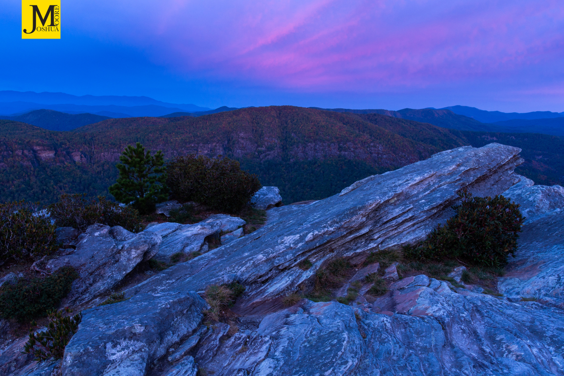 Blue Hour from Hawksbill Mountain