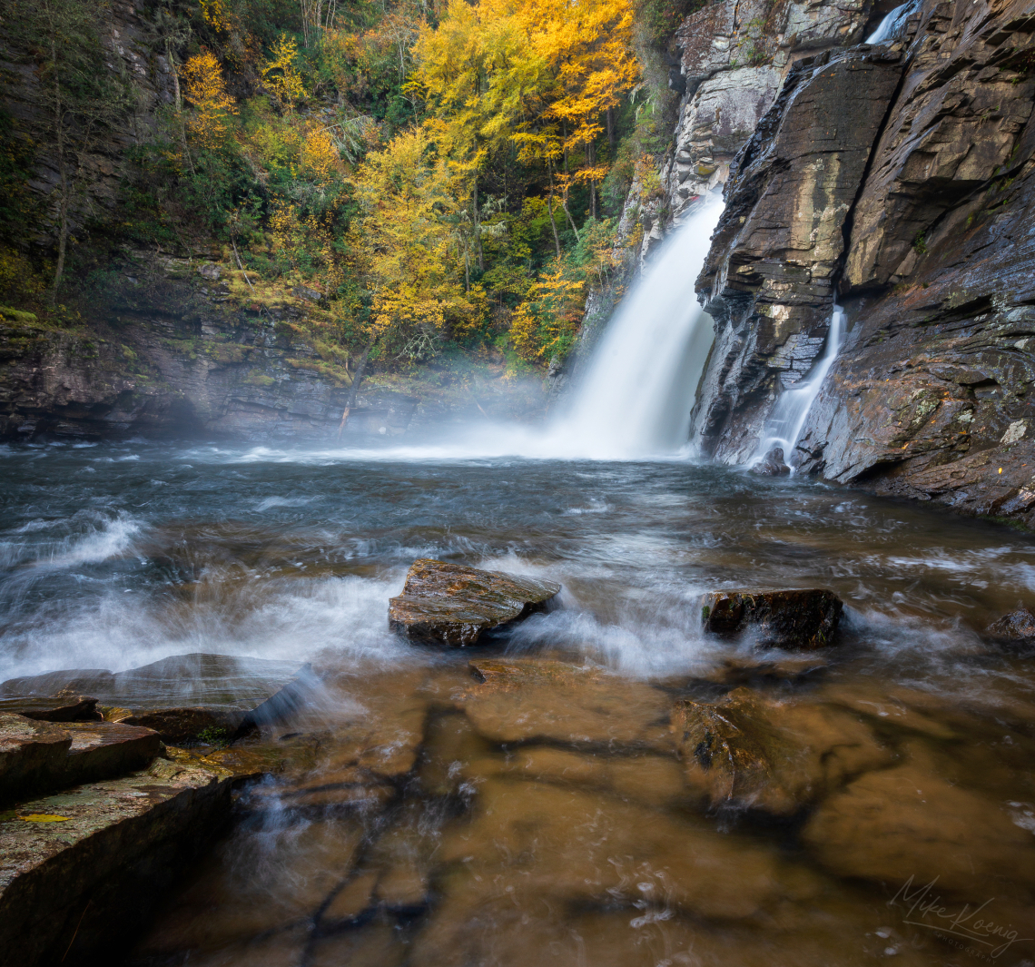 Linville Falls Making Waves Plunge Basin Trail