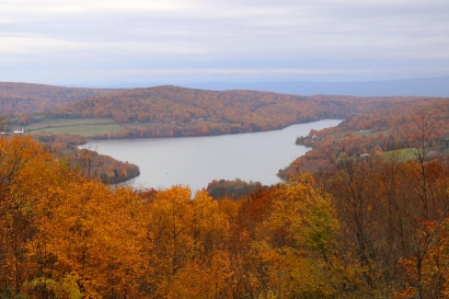 Overlooking Highpoint Lake