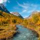 Steindalsbreen river autum