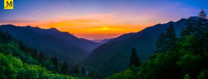 Sunset at Morton-GSMNP-Pano