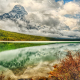 Mount Chephren in the Clouds