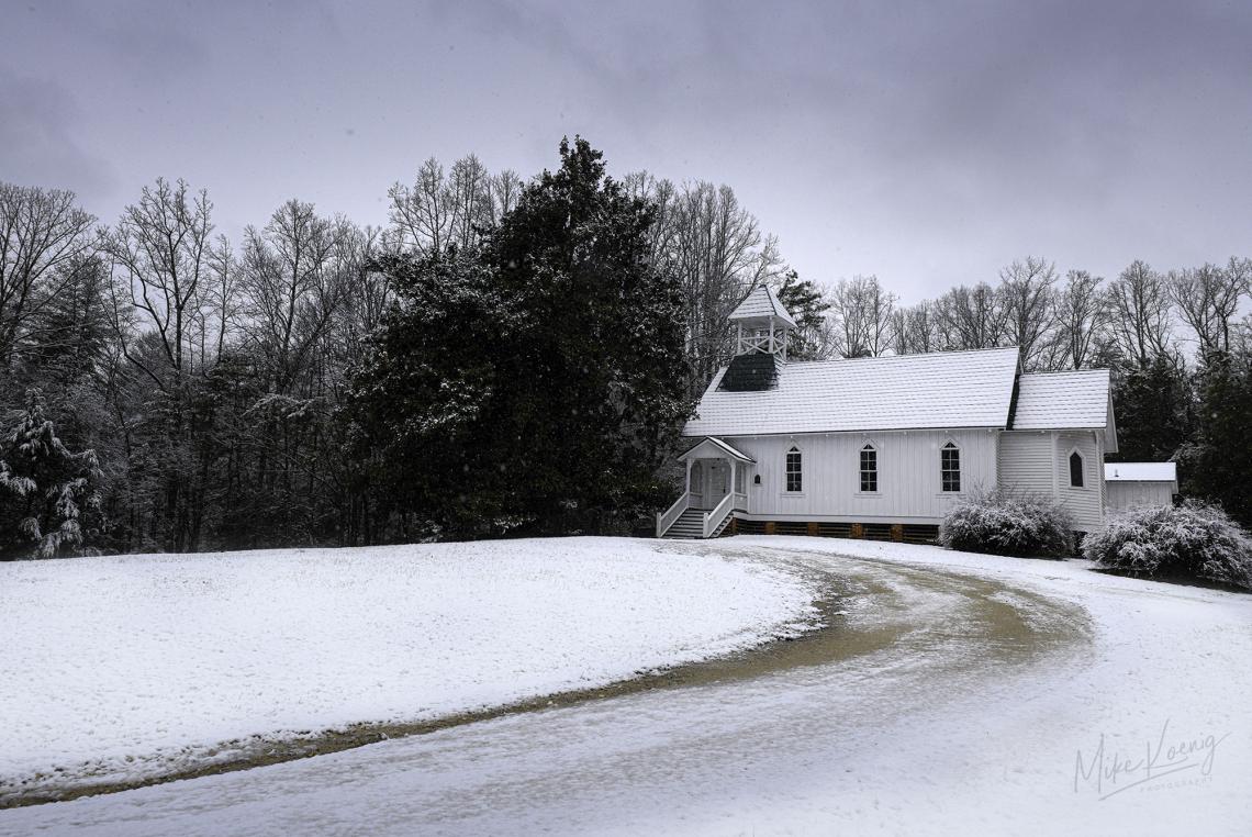 Chapel Of Rest Snow - Caldwell County North Carolina