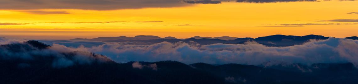 Morning Glow along Blue Ridges